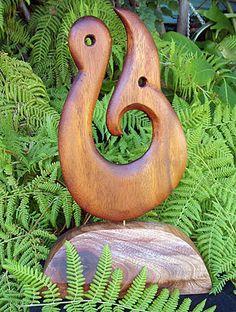 maori fish hook sculpture