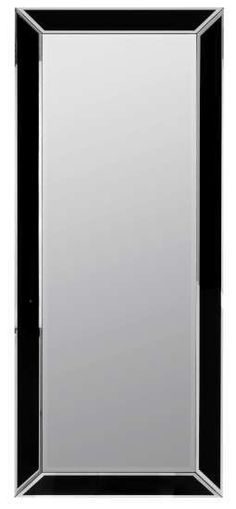 Providence Mirror Black and Silver Finish Beveled Mirror