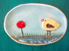 Whimsical Bird Soap Dish or Spoon rest by ShoeHouseStudio on Etsy, $20.00