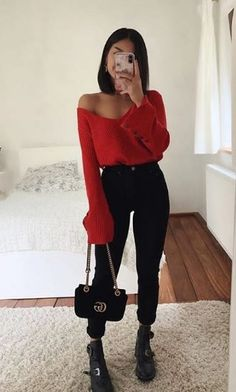 Cute Comfy Outfits, Cute Fall Outfits, Basic Outfits, Winter Fashion Outfits, Simple Outfits, Look Fashion, Pretty Outfits, Stylish Outfits, Girl Outfits