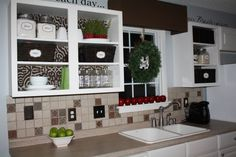 Open Kitchen Cabinet Option
