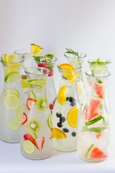 Make hydration fun with these recipes for infused water! These are great to serve at summer parties, too.