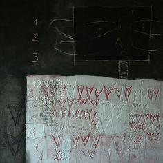 Elevata interiorità. Tecnica mista su tavola, cm. 120x120