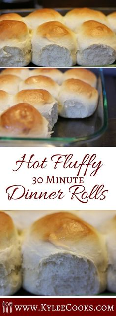 What do you do when you need dinner rolls soon, and want them to be homemade, AND you need them asap? MAKE THIS RECIPE and pull hot, fluffy rolls out of the oven in about 30 minutes. via Kylee Cooks