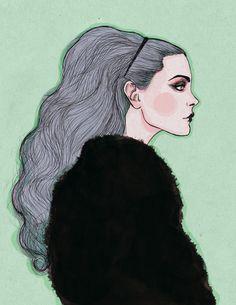 Fashion illustration  artist unknown