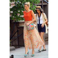 Blake Lively, puro estilo y 'glamour' en el set de rodaje de 'Gossip... via Polyvore