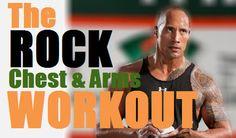 "Chest & Shoulder workout - Dwayne ""The Rock"" Johnson Routine"