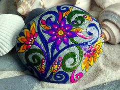 Garden of Eden / Painted Rock / Sandi Pike by LoveFromCapeCod, $52.00