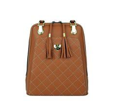 Kožený ruksak z pravej hovädzej kože č.8668 v horčicovej farbe (1)