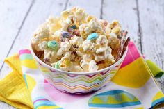 Recipe for White Chocolate Easter Popcorn Mix at Life's Ambrosia