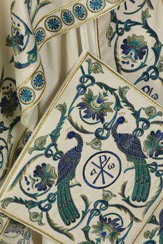 Blue vestments