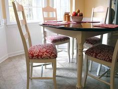 recovered dining room chairs - Google Search