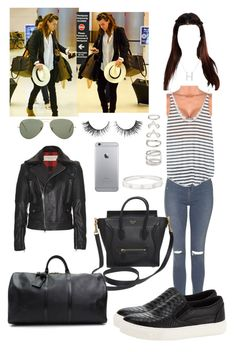 """Airport with Harry"" by tinateva ❤ liked on Polyvore featuring Topshop, CÉLINE, Zara, Burberry, Cartier, Plukka, Kurt Geiger, Forever 21, Ray-Ban and Rimini"