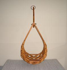 Mid Century Wooden Hanging Planter. $65.00, via Etsy.