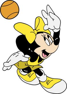 Minnie Mouse Playing Basketball SVG