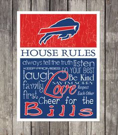This professionally designed print is perfect for any football fans game room, man cave, garage or bedroom! SUPPORT YOUR FAVORITE TEAM with rules