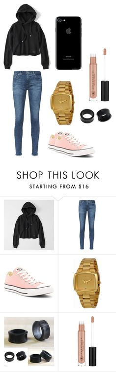 """""""Untitled #25"""" by brokenangel-eva on Polyvore featuring Abercrombie & Fitch, AG Adriano Goldschmied, Converse, Nixon, NOVICA and Anastasia Beverly Hills"""