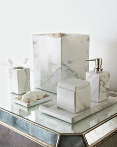 Marble Vanity Accessories by Waterworks Studio at Horchow.