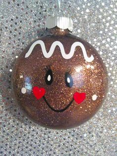 Gingerbread ornament by LOLOSBLESSINGS on Etsy                                                                                                                                                                                 More
