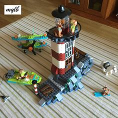 Sale mylb New Haunted Lighthouse Scooby Doo Model Bricks Blocks Kids Toy Gifts Compatible with DIY Model Building Kits, Lego Building, Toddler Toys, Kids Toys, Scooby Doo Toys, Lego Kits, Lego For Kids, Brick Block, Kids Boxing