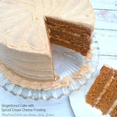 This Gingerbread Cake from Scratch with Spiced Cream Cheese Frosting is the best! Perfect for Christmas and winter gatherings! Cake Recipes From Scratch, Cake Mix Recipes, Frosting Recipes, Cupcake Recipes, Holiday Treats, Christmas Treats, Holiday Cakes, Gingerbread Latte, Gingerbread Recipes