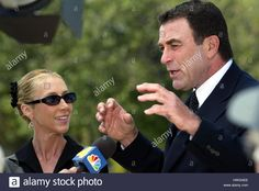 June 11, 2004 Actor Tom Selleck and his wife Jillie Mack at the funeral for Ronald Reagan at the Ronald Reagan Presidential Library in Simi Valley,  California.