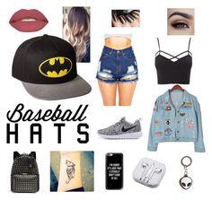 """Baseball Hat Themed"" by lilbank ❤ liked on Polyvore featuring Chicnova Fashion, Charlotte Russe, Smashbox, Valentino, Casetify, PhunkeeTree, baseballcap and baseballhats"