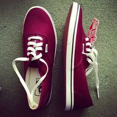 Maroon Vans. Missing my red ones.