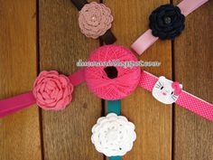 Handmade Cristina: Flower crochet headbands