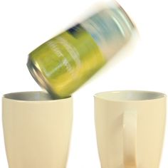 Make a soda can jump between mugs!  This experiment demonstrates the invisible force of air pressure.  It is super easy and you can use items you already have around.