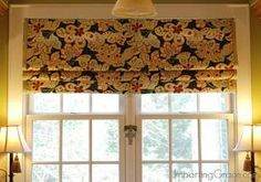 make your own faux roman shade, diy, home decor, window treatments...sew different patterns.
