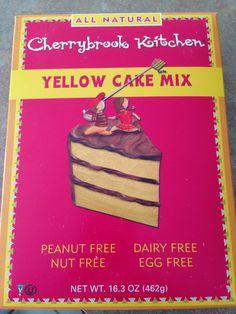 Egg-free yellow cake mix!