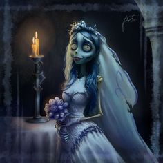 Tim Burton Corpse Bride Art | Emily is Waiting for You - The Corpse Bride by Felipe Kimio