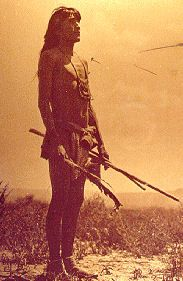 A young Shoshone Brave; late 1800's