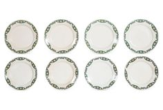Vintage Ironstone Plates, Set of 8 on One Kings Lane today