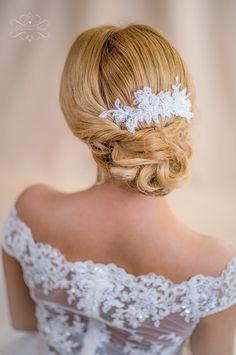Braut Haarschmuck Spitze Ivory Haarkamm Hochzeit von Princess Mimi  auf DaWanda.com