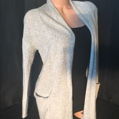Max Studio CASHMERE Cardigan This is a classic 100% 2-ply Max Studio cashmere cardigan in this gorgeous light heather gray color. It is an elegant addition for all occasions. Cashmere is  sophisticated and cozy and a staple in any wardrobe; and this fabulous color is a compliment to any outfit. This classic piece will transition seamlessly from season to season.                                                                    Sorry no trades Max Studio Sweaters Cardigans