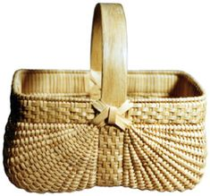 """Baskets by Gertie Youngblood  9"""" x 9.5"""" & 6.5"""" x 7""""  Gertie's work is the finest example of Appalachian basketry I have seen. A set of nine square ribbed baskets can be seen in the book """"Appalachian White Oak Basketmaking, Handing Down the Basket"""" by Rachel Nash Law and Cynthia W. Taylor.  """"I"""" refers to Tony Stubblefield"""