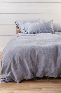Treasure & Bond Relaxed Cotton & Linen Duvet Cover by Nordstrom Bedding Sets Online, Luxury Bedding Sets, Ikea, Zara Home, Pottery Barn, Bond, Best Duvet Covers, Black Bed Linen, Blue Duvet
