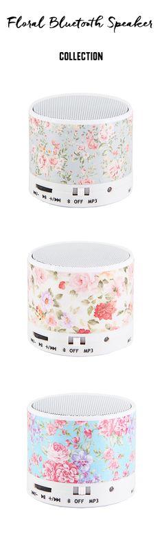 Stylish Flowers design bluetooth speaker