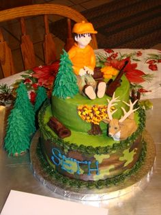 Hunting Cake By frankdiabetes on CakeCentral.com