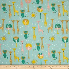 Birch Organic Happy Town Pals Sky from @fabricdotcom  Designed by Emily Isabella…