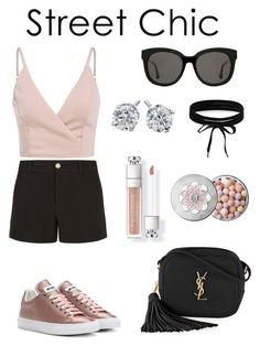 """""""PINKY STREET CHIC"""" by stylebyceylin ❤ liked on Polyvore featuring Jil Sander, Gucci, Gentle Monster, Boohoo, Yves Saint Laurent and Guerlain"""