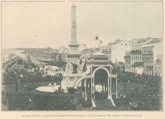 Praça dos Restauradores - 1886  Inauguração do Monumento aos Restauradores