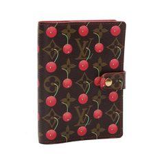 Louis Vuitton Agenda PM Monogram Cherry Other Brown Canvas R21023