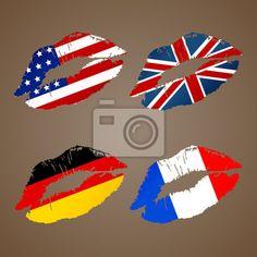 Flaga niemiec • Obrazy na płótnie • Obrazy i plakaty • PIXERS.pl