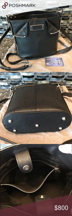 Alexander McQueen BNWT Black Leather Bag Beautiful cross body or hand held leather bag. Silver zipper accent on sides. Retail $1496 - includes receipt, tag and dust bag. Alexander McQueen Bags Crossbody Bags