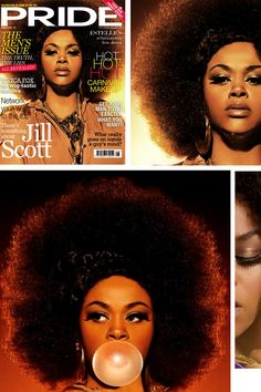 I love Jill Scott! She's amazing, beautiful, intelligent, soulful, creative, dramatic, fashionable. She is an awesome singer and actress, and I would lose my mind if I ever got to meet her!  (Did I mention How Much I love her?)