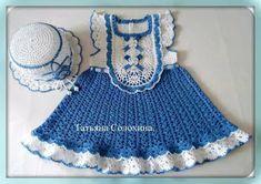 Croche e Pontos: Vestido Infantil 4/5/17
