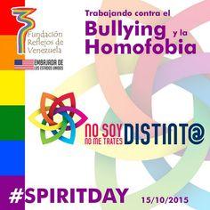 Proyecto #nosoydistinto #nometratesdistinto  Fundación Reflejos de Venezuela #spiritday #glaad Calm, Equal Rights, Lgbt Community, United States, Venezuela